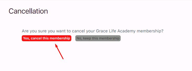 Grace Life Academy faq cancellation