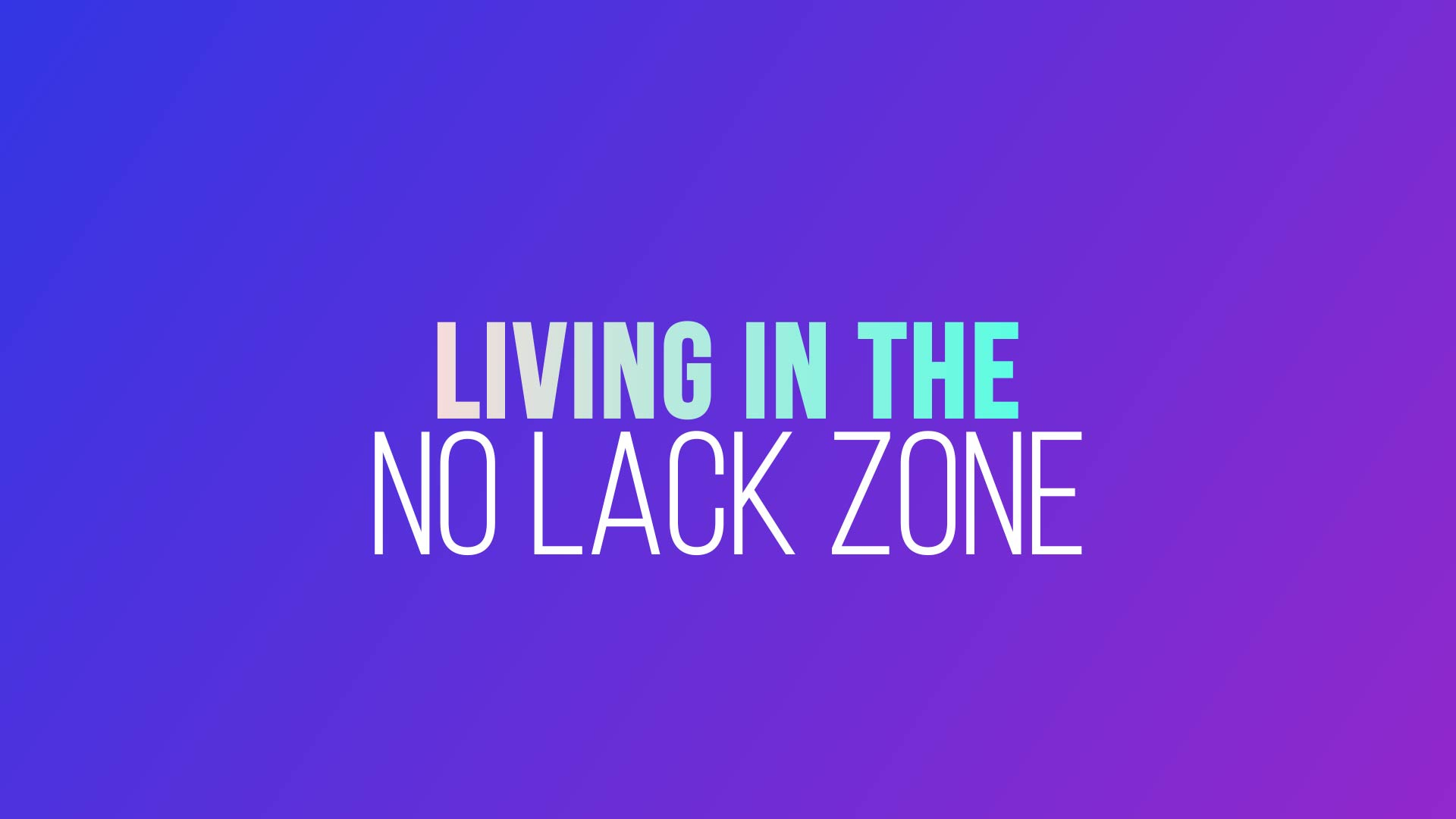 Grace Life Academy Living In The No Lack Zone