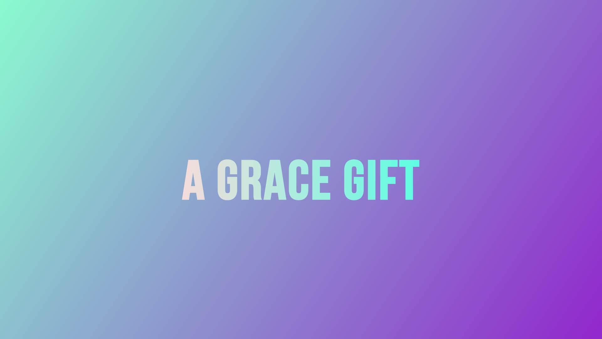 Grace Life Academy A Grace Gift Preview